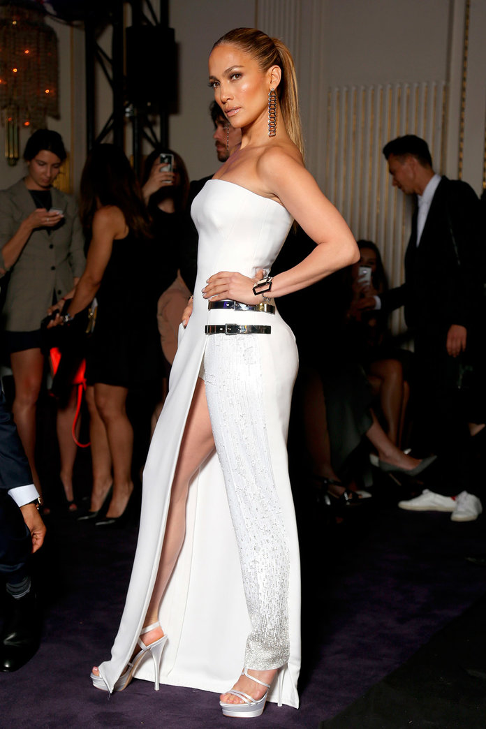 Jennifer Lopez Wows In Versace's Quirky Trouser-Dress Hybrid