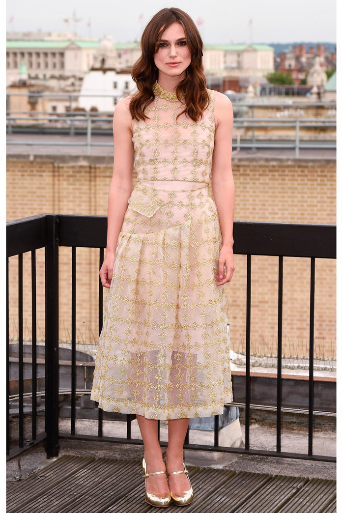 Keira Knightley's Frock-Fest Continues With Two Gorgeous Gold Looks