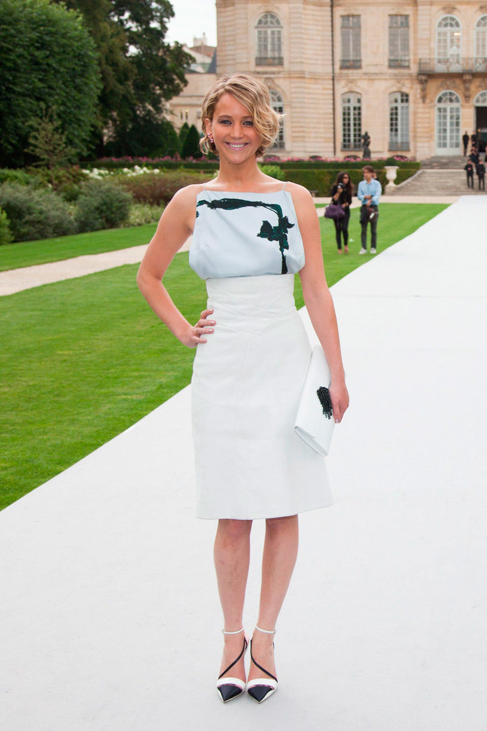 Jennifer Lawrence Goes Daring In Dior For Couture Fashion Week