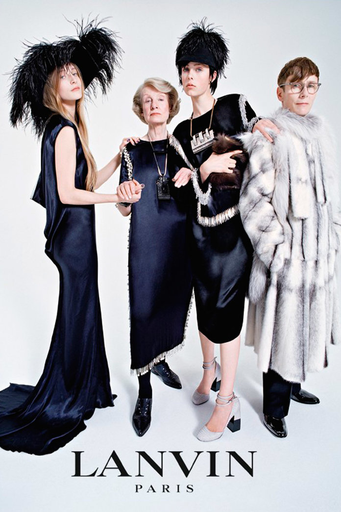 Edie Campbell And Her Family Star In Lanvin's AW14 Campaign