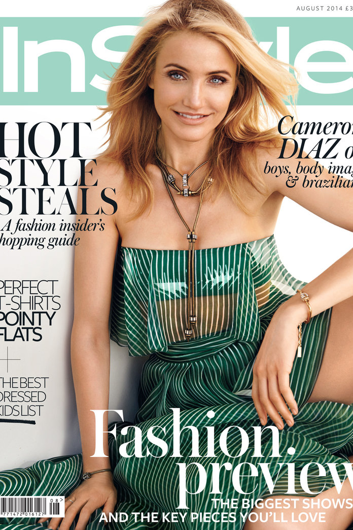 Cameron Diaz Is InStyle's August Cover Star