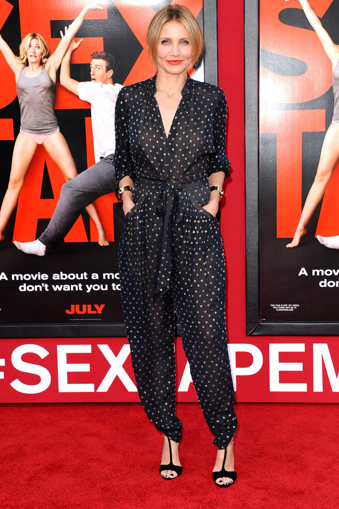Cameron Diaz Swaps Her Trusty LBD For A Summery Jumpsuit On The Red Carpet