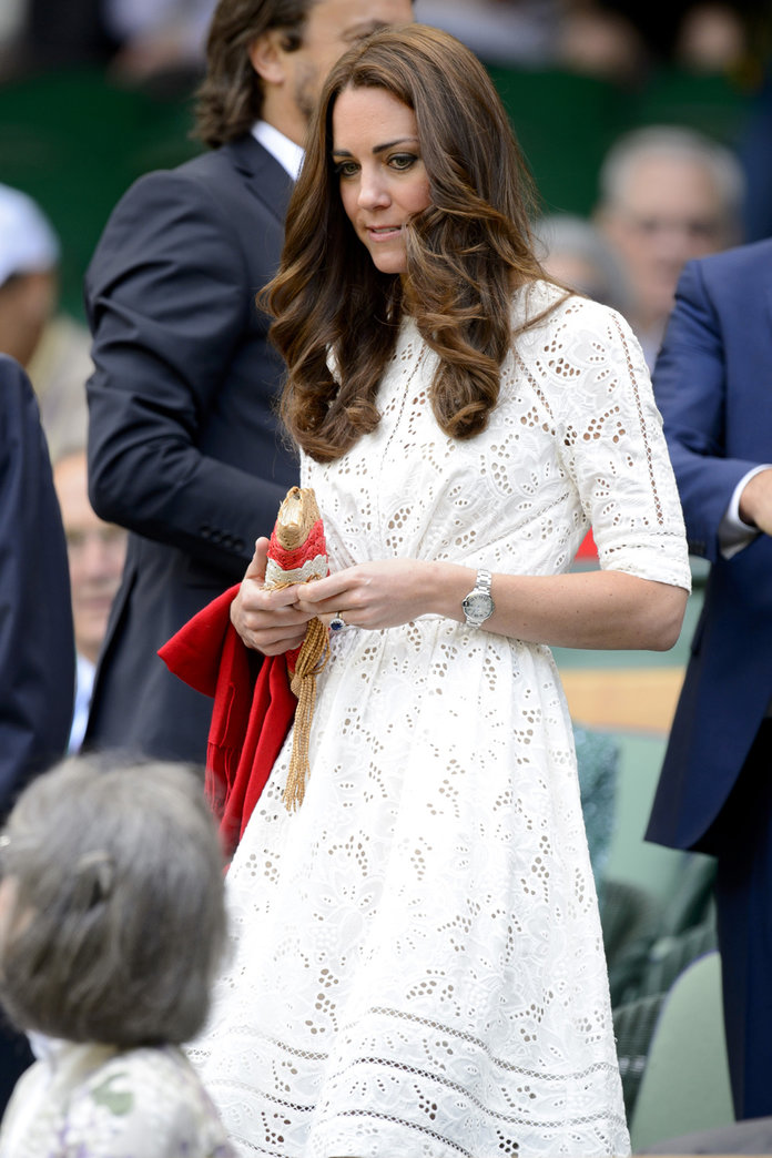 Kate Middleton Wears White For Her Wimbledon Debut
