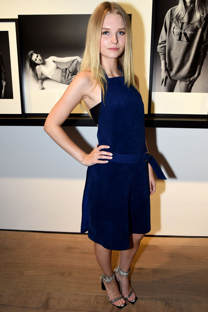 Lottie Moss Plays The Model Part At Calvin Klein Launch