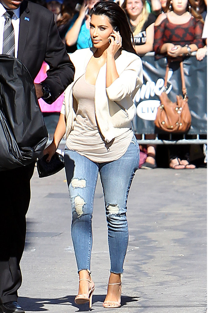 Kim Kardashian Shows Off Her Enviable Curves In New York