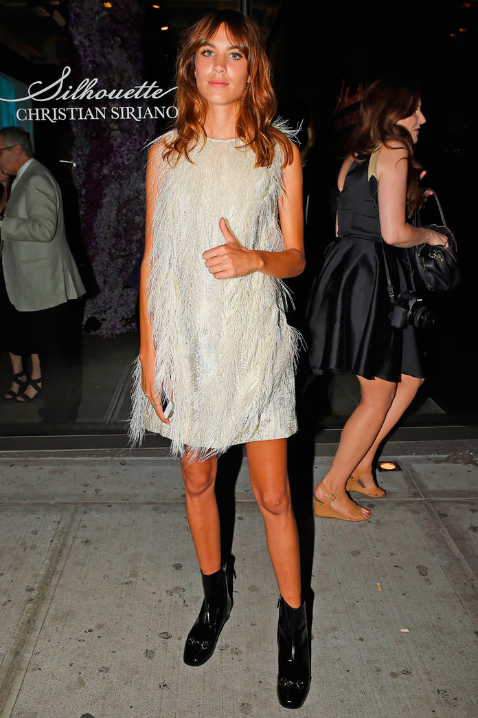 Alexa Chung, In A Feather Dress, With A Wind Machine: It's Pure Fashion Gold...