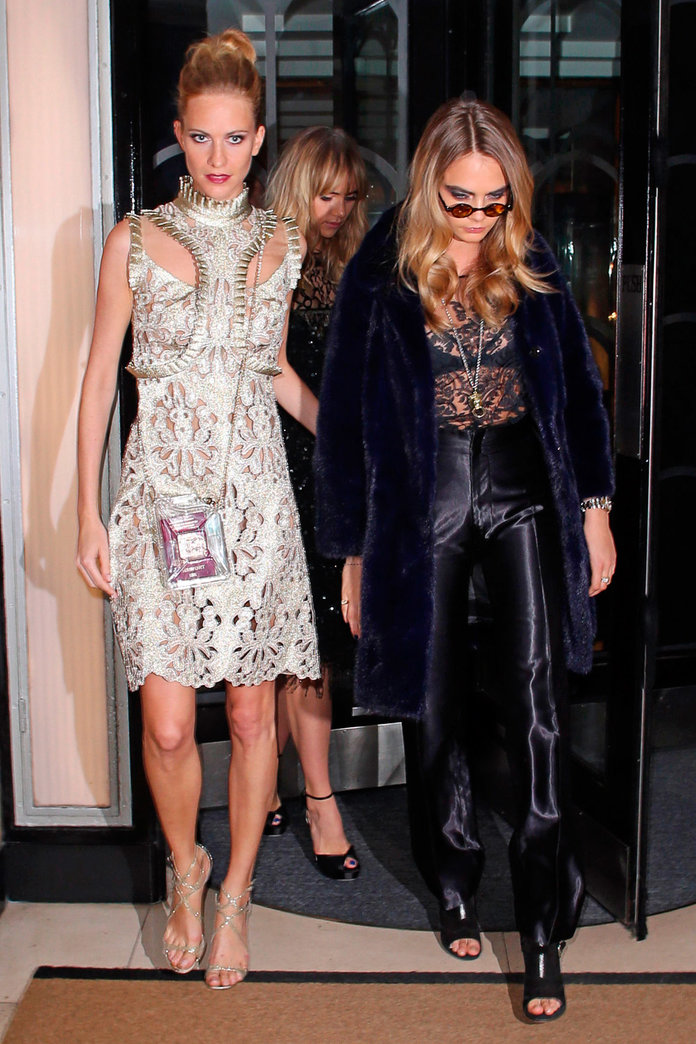 Alexa Chung, Cara, Poppy And Suki Bring Their Fashion A-Game To Downing Street