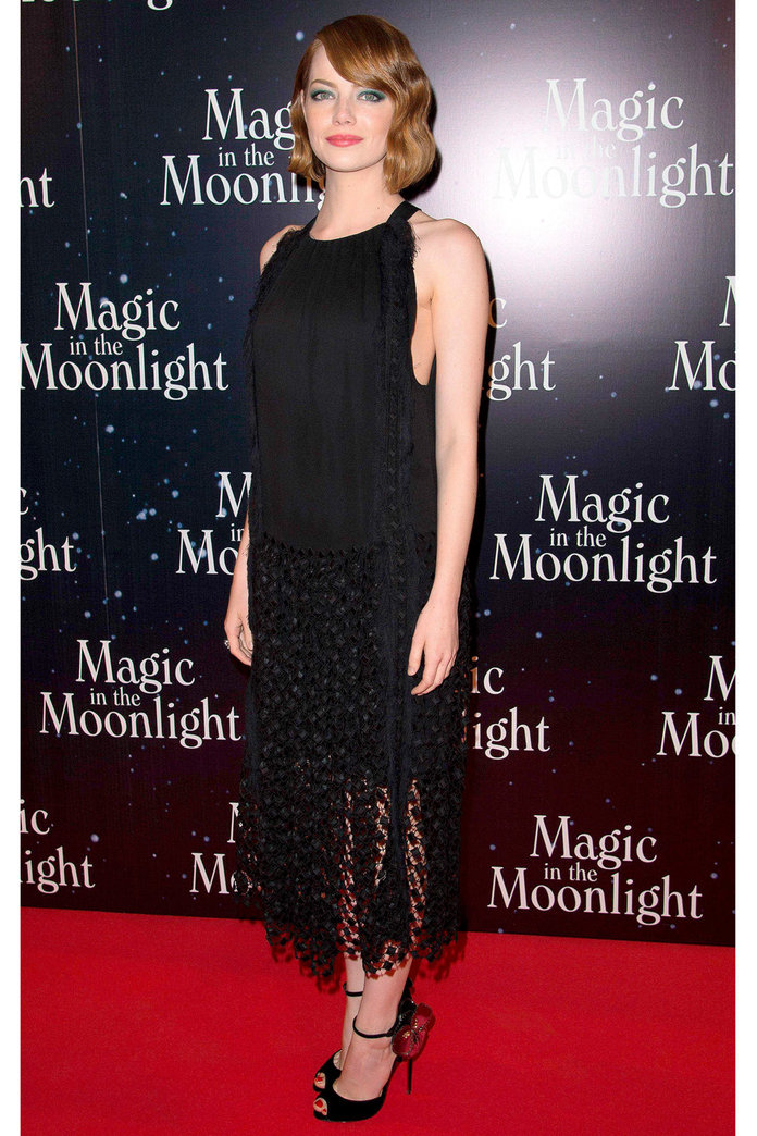 Emma Stone Takes Styling Tips From Her Latest Role In Stunning Flapper Get-Up