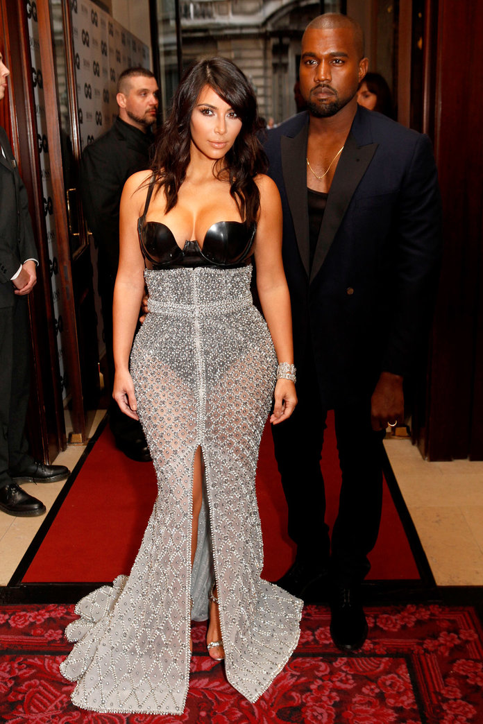 Kim Kardashian And Kanye West Made A Very Unexpected Catwalk Debut At LFW...