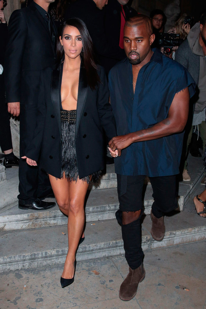 Kim Kardashian And Kanye West Steal The Limelight As King And Queen Of PFW