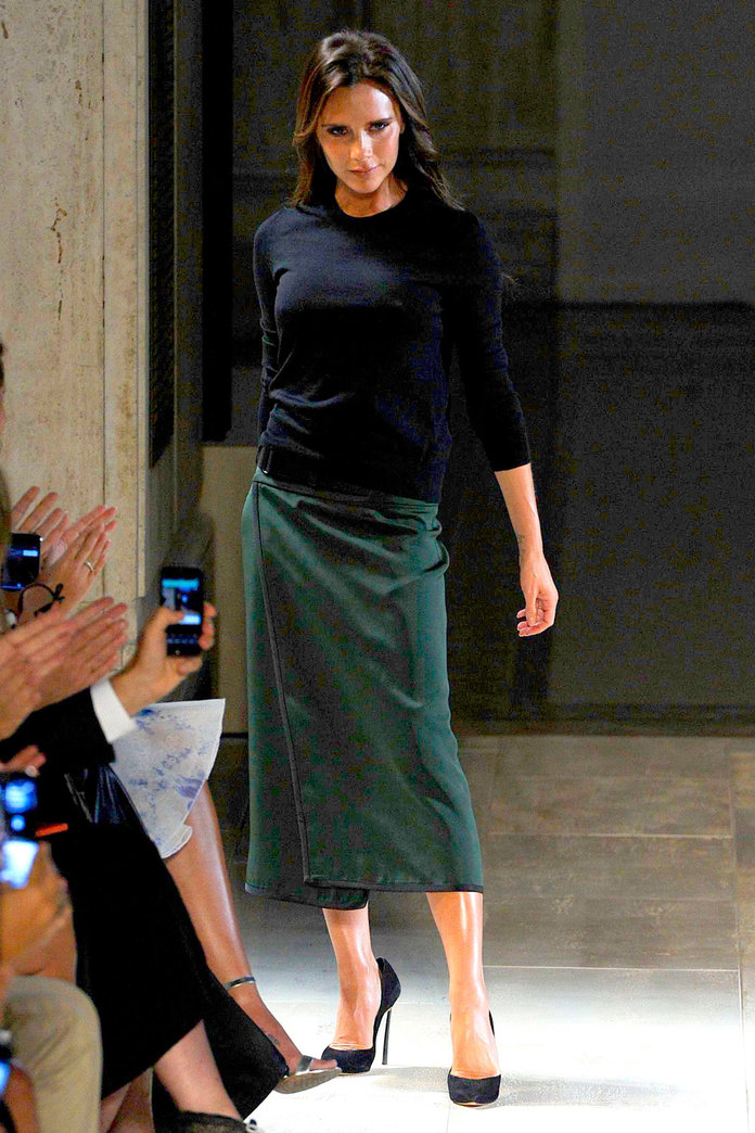 Victoria Beckham's New York Fashion Week Show Was Another Adorable Family Affair...