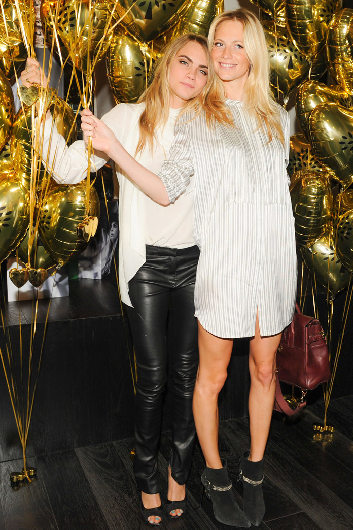 Cara Delevingne Parties With Sister Poppy At Her Mulberry Bash