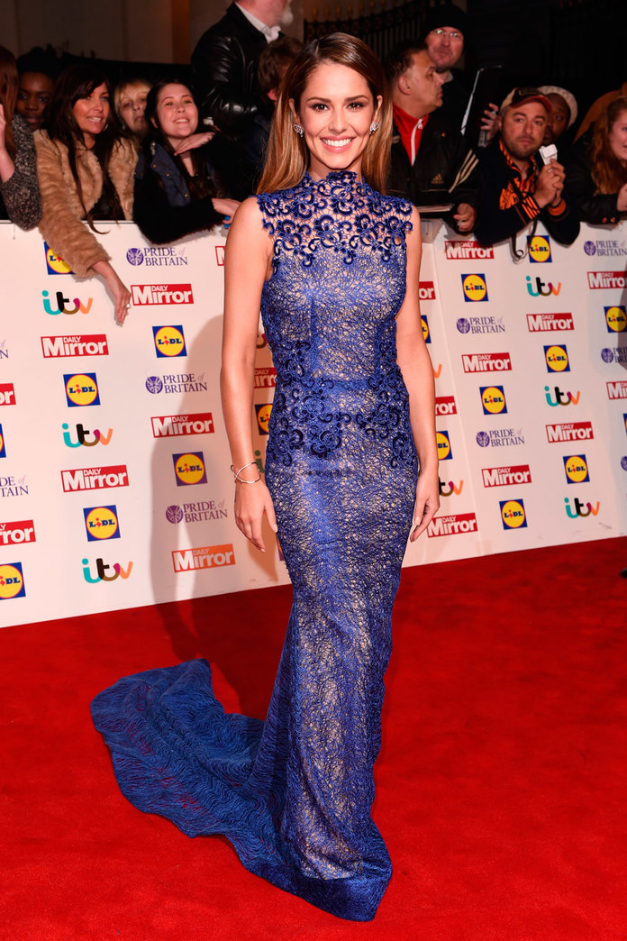 Cheryl Is Back To Her Lacey Best In This Stunning Floor-Sweeper