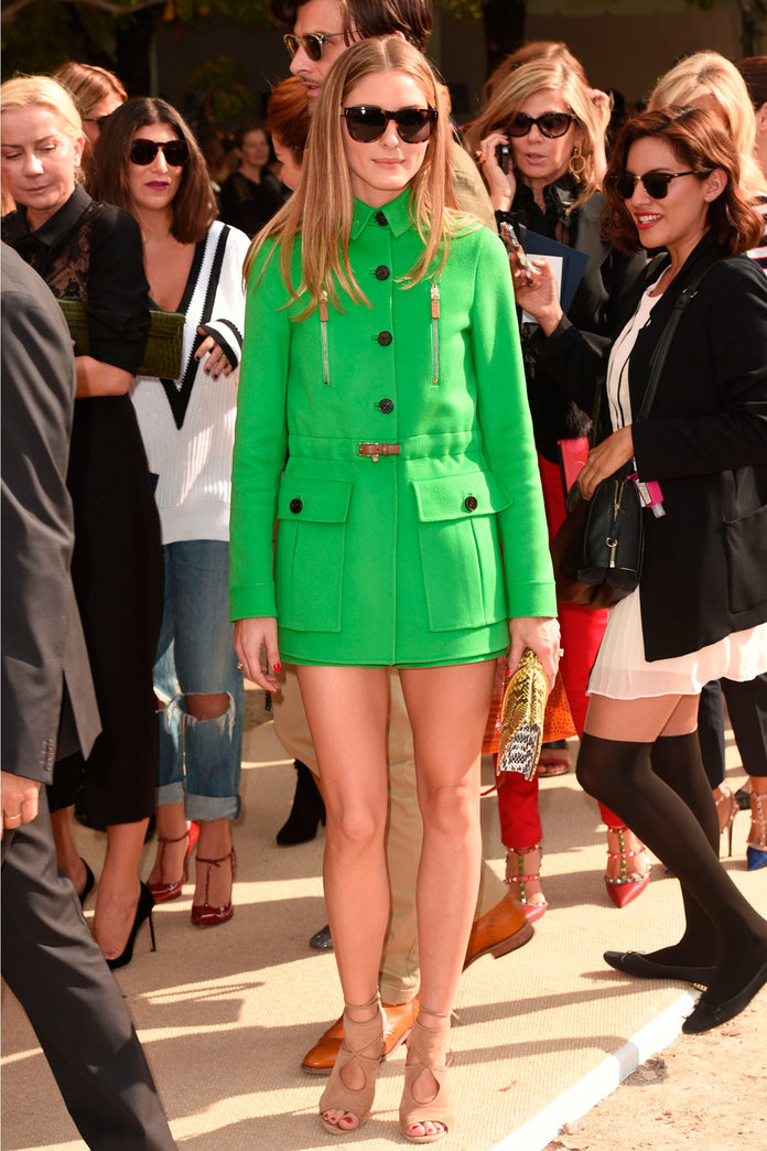 Olivia Palermo Takes The Coat Dress Trend To The Next Level...