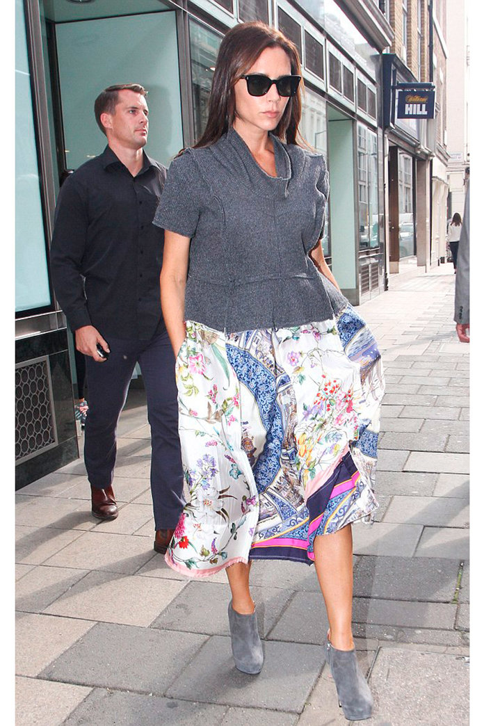 Victoria Beckham Wore The Most Unexpected Skirt To Visit Her New Store