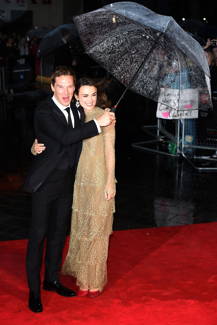 Keira Knightley Has Another Run In With The Weather On The Red Carpet