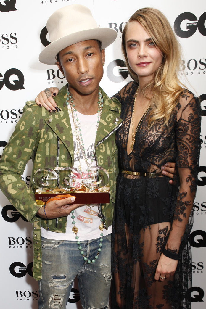 So THIS Is What Cara Delevingne And Pharrell Are Really Up To