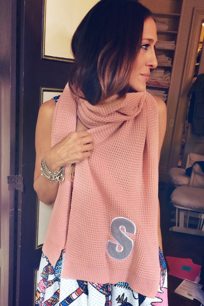 Meet The Budget Monogrammed Scarves That The A-List Love