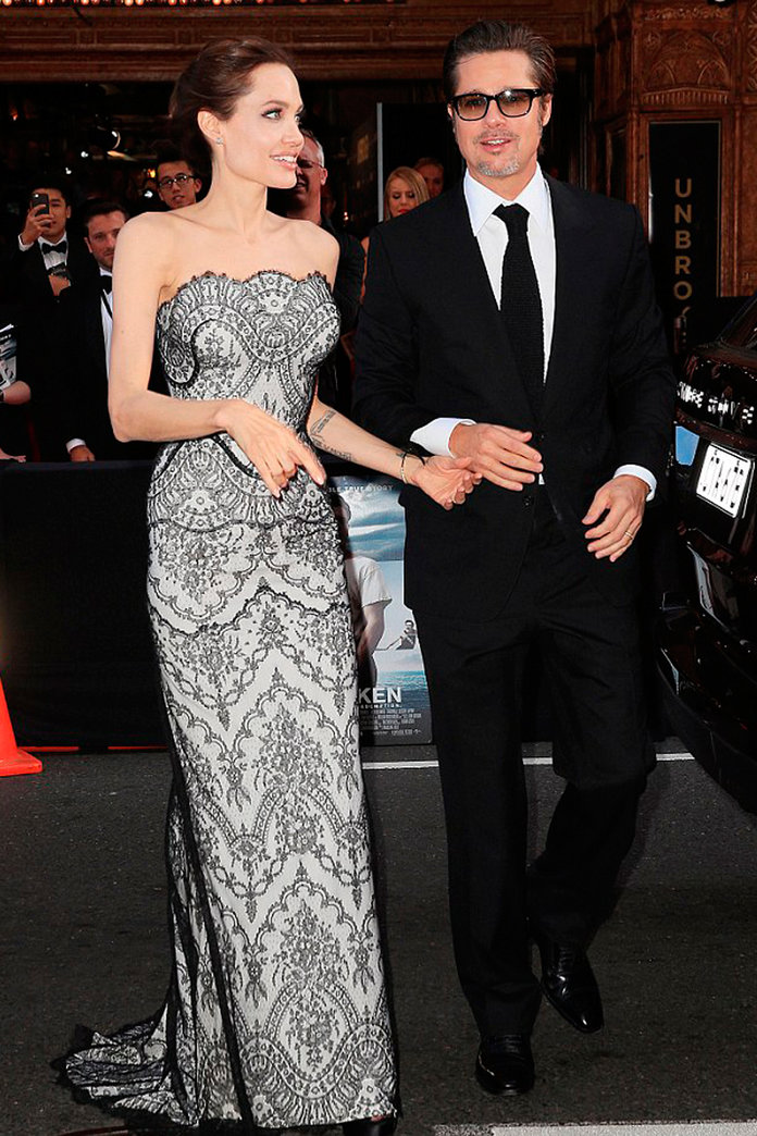 Angelina Jolie And Brad Pitt Tackle The Red Carpet For The First Time As Mr And Mrs
