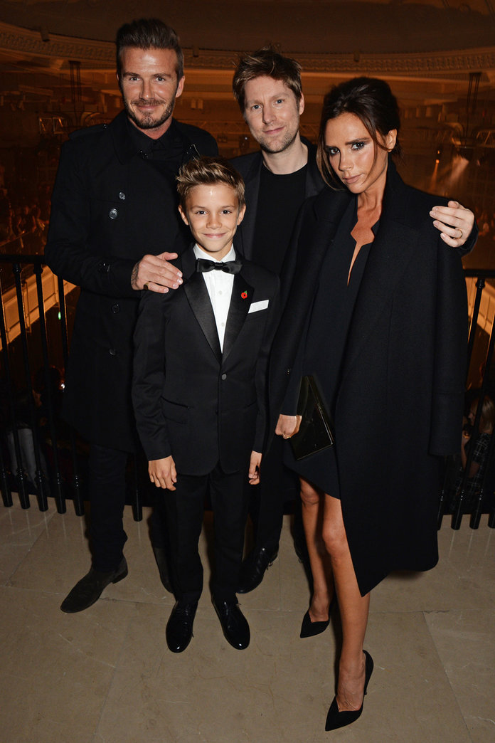 Victoria And David Beckham Beam With Pride At Romeo's Burberry Ad Premiere