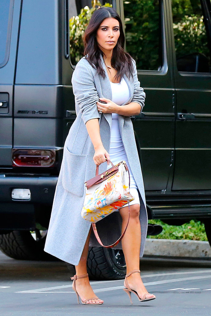 Kim Kardashian Flaunts Her 'Hand-Painted By North West' Hermes Bag