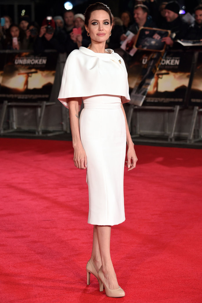 Angelina Jolie Takes To The 'Unbroken' Red Carpet With The British Military
