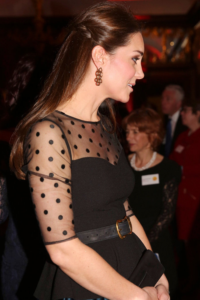 Kate Middleton Goes For A Retro Look As She Hosts Evening At Kensington Palace