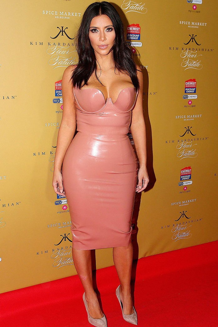 Kim Kardashian Steps Out In PVC As She Reveals How Much She Loves Her Post-Baby Body