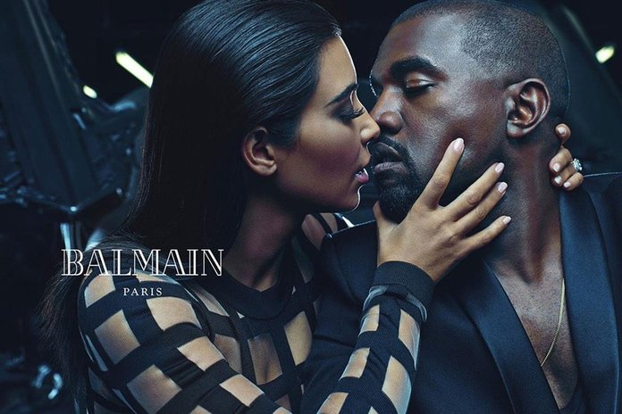 You HAVE To See Kim Kardashian And Kanye West's Balmain Campaign Pics...