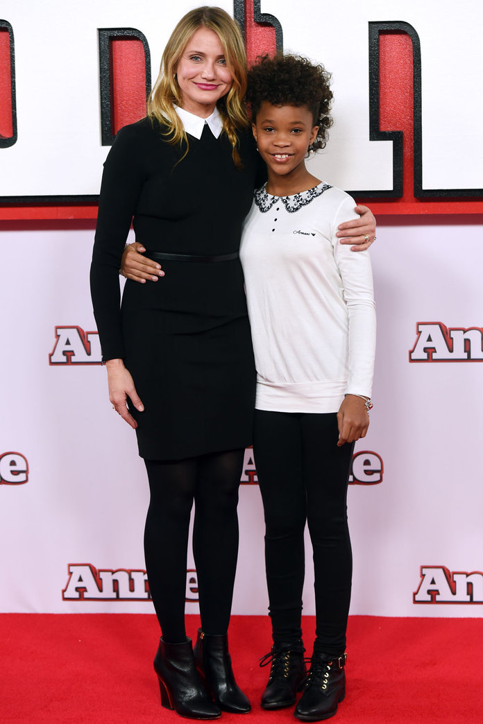 Cameron Diaz Goes Matchy Matchy With Her Annie Co-Star Quvenzhane Wallis