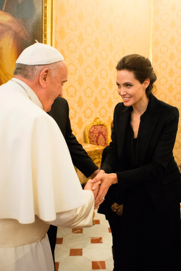 Angelina Jolie Just Had A Meet-And-Greet With The Pope