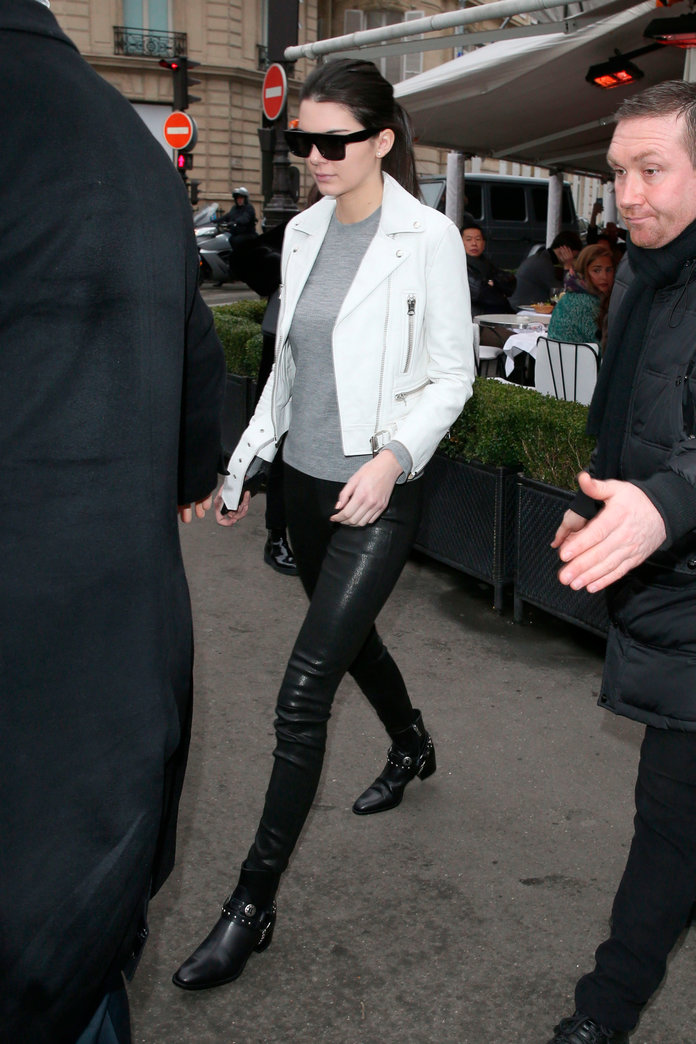 Kendall Jenner Kick-Starts The Triple Leather Trend. Would You Dare To Wear?