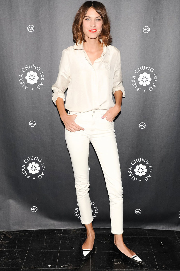 Alexa Chung And Anne Hathaway Do Top-To-Toe White Like Pros