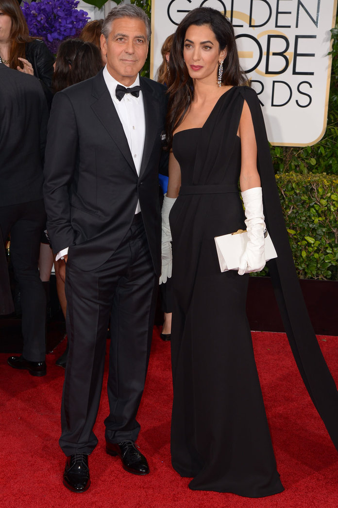 George Clooney And Amal Totally Stole The Golden Globes Red Carpet