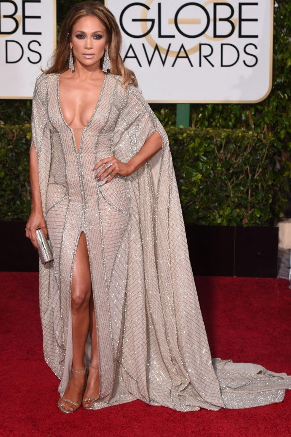 Naval-Grazing Necklines RULED The Golden Globes Red Carpet