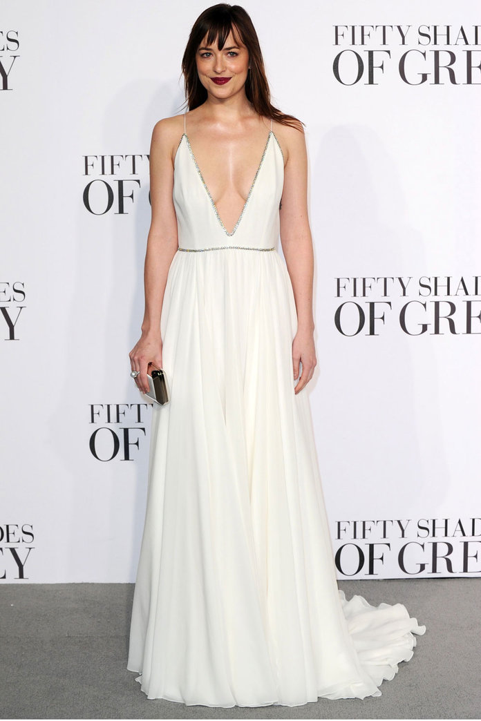 Dakota Johnson Showed Off Some Serious Cleavage At The Fifty Shades London Premiere