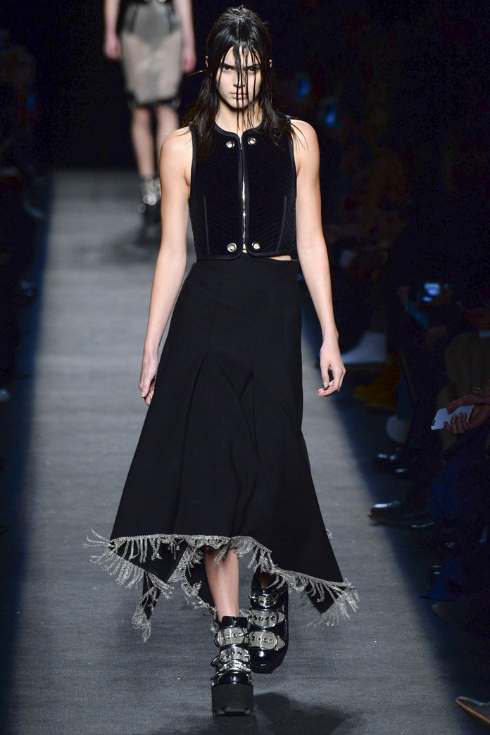 Kendall Jenner Goes All Out Goth At New York Fashion Week