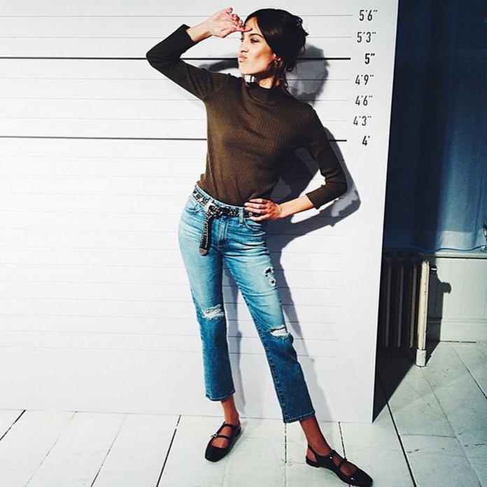 Alexa Chung Gives Us A Sneak Peek At Her New AG Jeans Collection