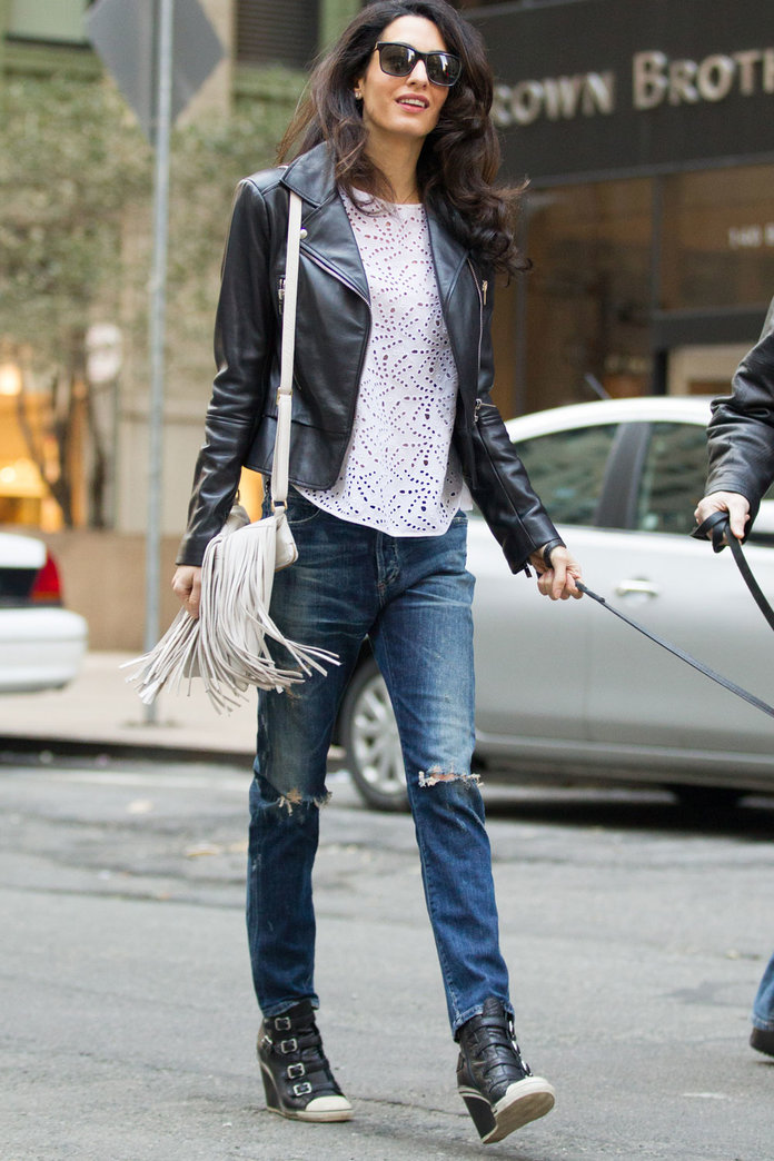 Amal Clooney Reveals Her Edgiest Look To Date As She Visits Husband George On Set In NYC