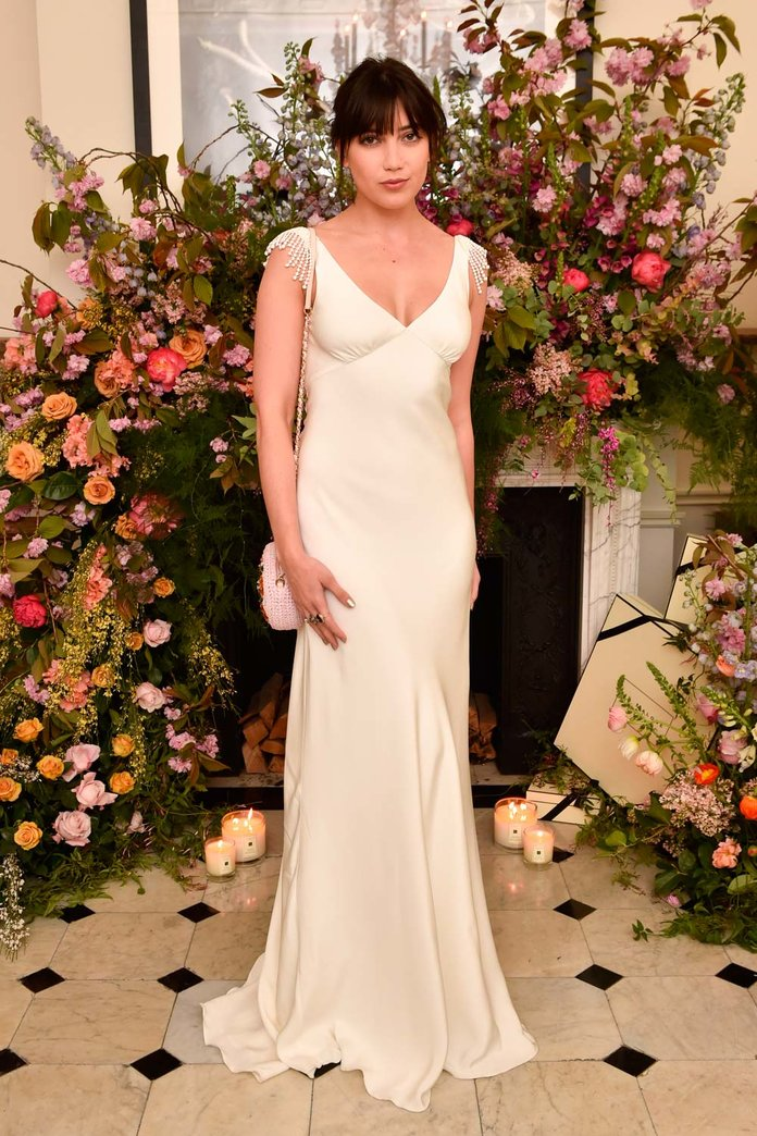 Daisy Lowe Perfects The Art Of Upstaging By Rocking A Wedding Dress To A Party