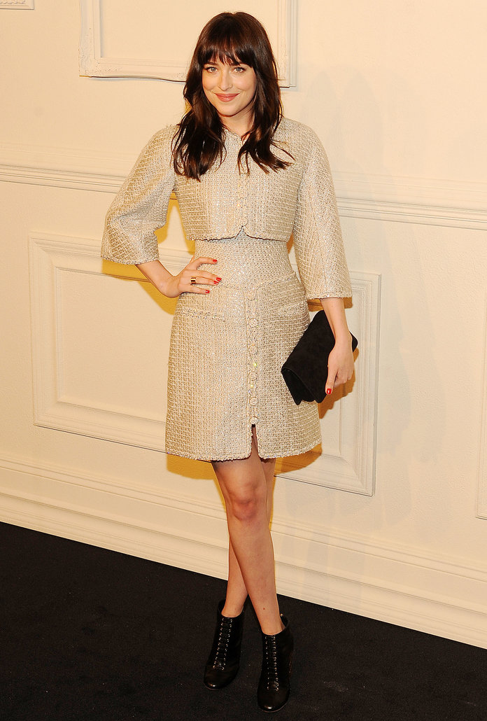 Dakota Johnson Cements Her Status As Fashion's New Darling In Top-To-Toe Chanel