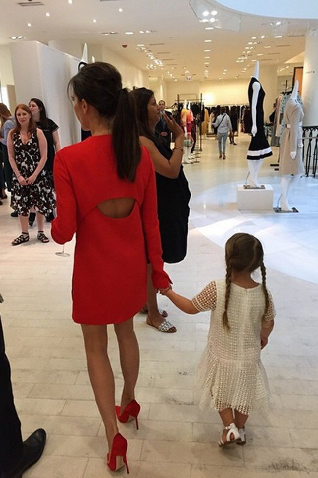 A Lesson In Matching Your Shoes To Your Outfit, As Told By Victoria And Harper Beckham