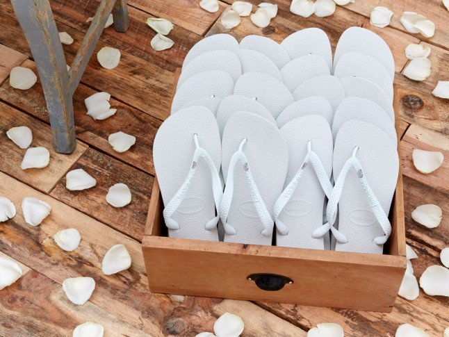 It Looks Like The Wedding Flip Flop Trend Is Now A Bona Fide Bridal Tradition...
