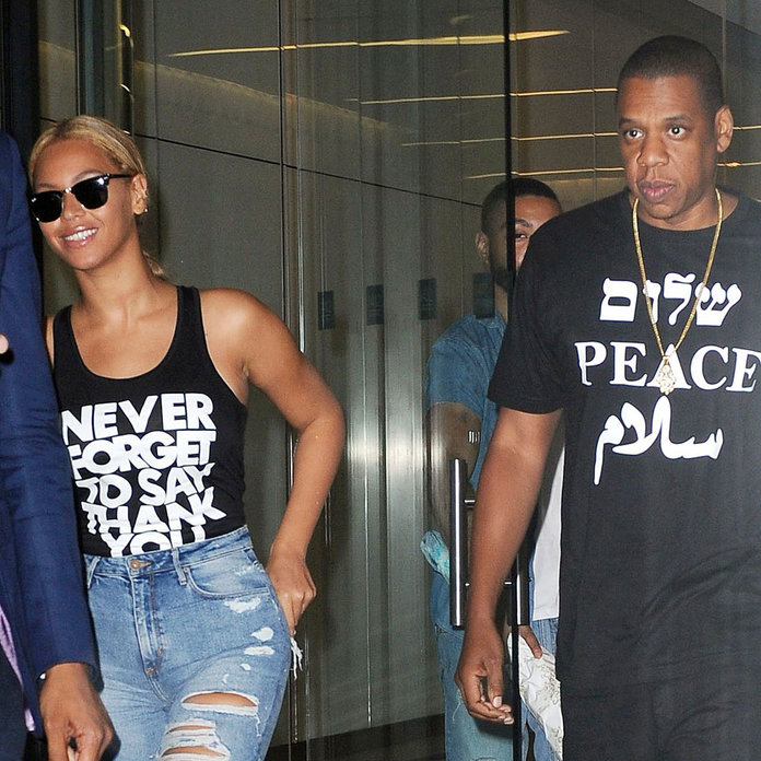 Make Like Beyoncé And Jay Z And Spread Your Message With A Slogan T-Shirt