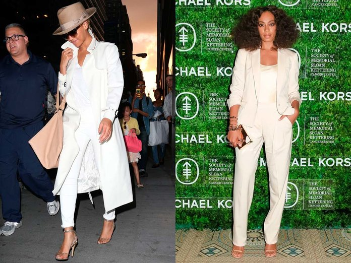Beyoncé And Solange Dressed Like Twins Without Realising + It's Creeping Us Out
