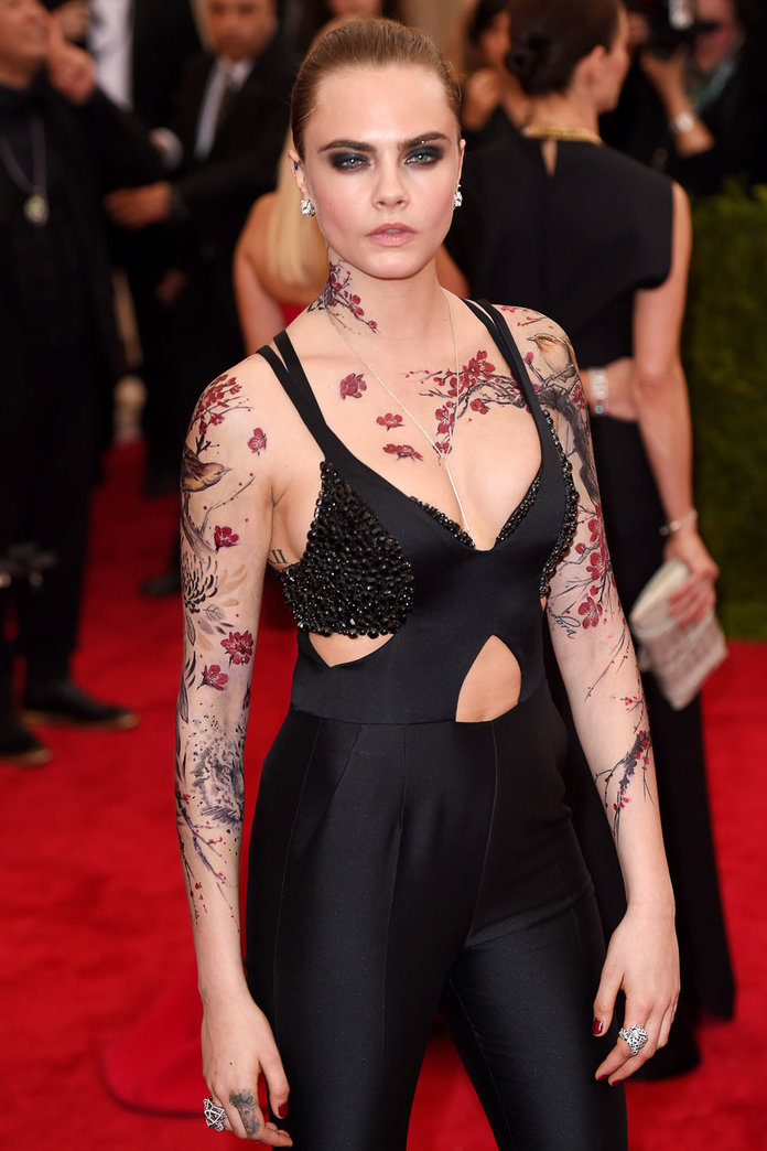 Cara Delevigne's Body Art And Other Ways Of Working The Met Gala Dress Code