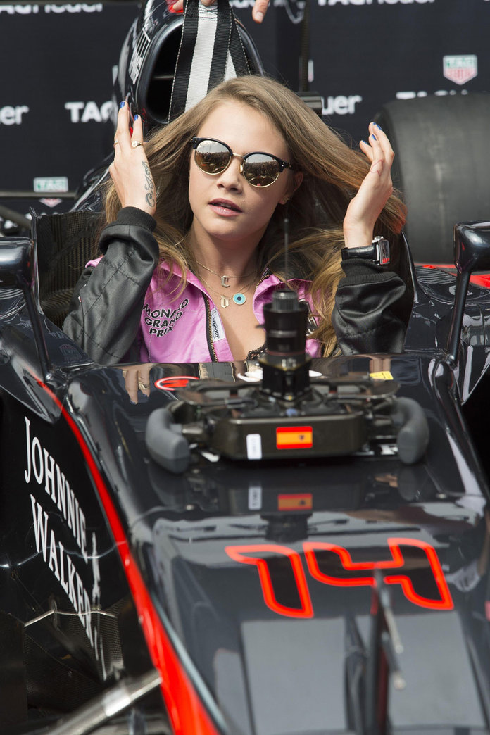 Cara Delevingne And Kendall Jenner Get A Taste Of The F1 Life...