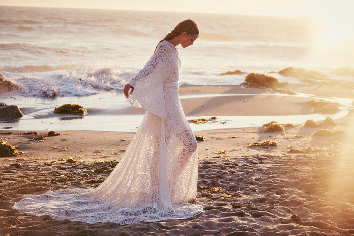 Boho Brides, Rejoice! The Free People Wedding Dress Collection Is FINALLY Here