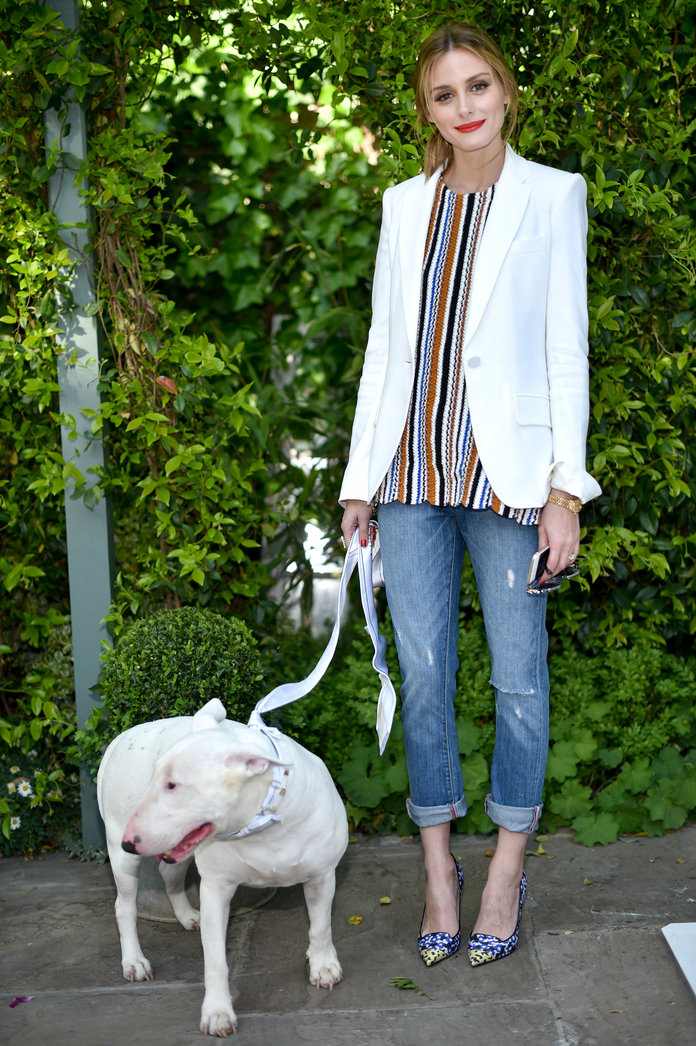 Tea With Olivia Palermo And Tuna The Dog. Yep This Actually Happened...