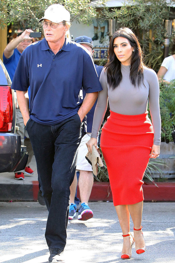 Kim K Was AT The Caitlyn Cover Shoot – And Here's What She Had To Say About It